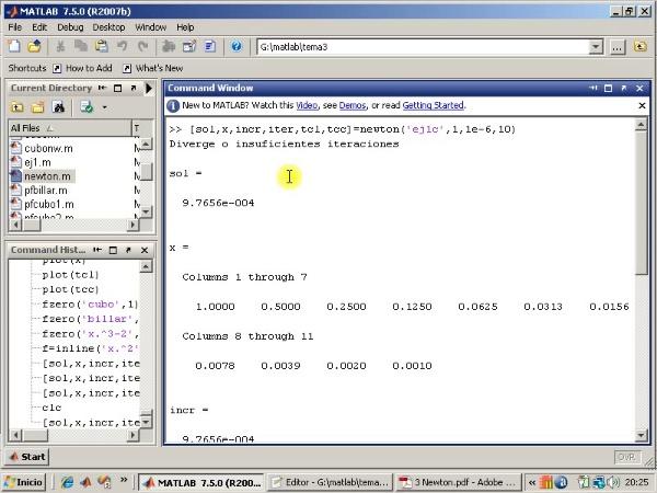 Tema 3. F(x)=0. Ejercicios