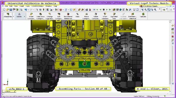 Creación Virtual Modelo Lego Technic 8862-1 ¿ Montaje Modelo ¿ 44 de 44