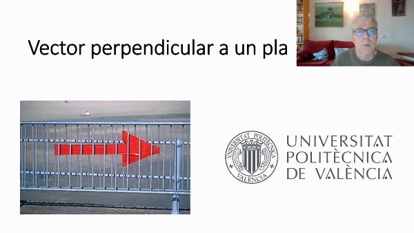 Vector perpendicular a un pla