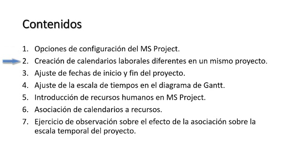 Cómo crear calendarios laborales en MS Project