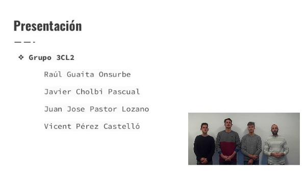 ISW - Co-evaluación Grupo 3CL2 (Raúl, Javier, Juan José, Vicent) - GitHub