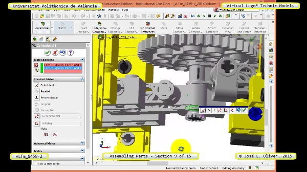 Montaje Modelo Lego Technic 8459-2 con Solidworks ¿ 09 de 15