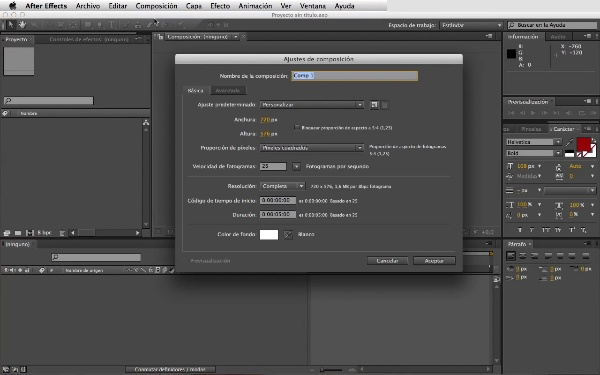 Animación sencilla. Crear keyframes con After Effects.