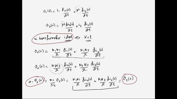 eoría de Circuitos 1. Lección 6. 8-3 Ecuaciones relación corrientes en un transformador ideal