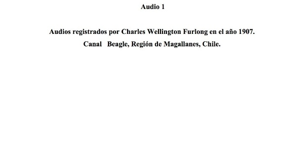 [11] Audio 1 - Audios registrados por Charles Wellington Furlong