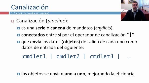 Canalizaciones (pipeline) en Windows PowerShell