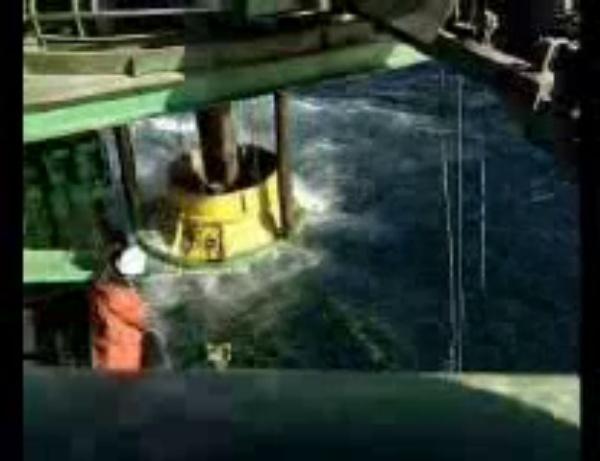 Barco de descarga por tubería