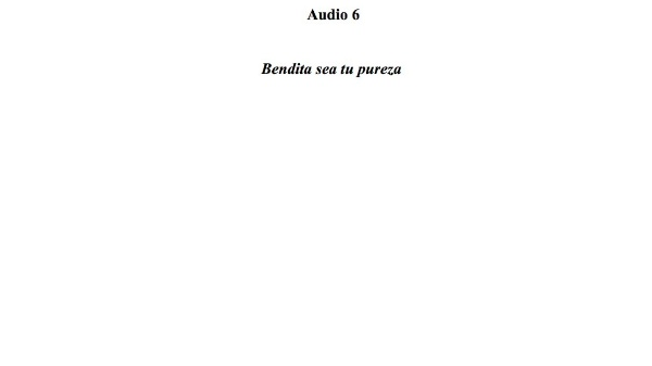 [25] Audio 6 - Bendita sea tu pureza