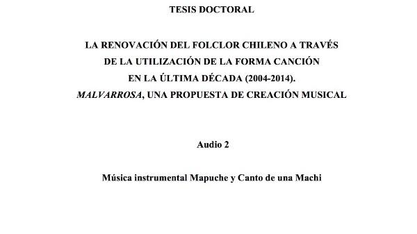 [12] Audio 2 - Música instrumental Mapuche y Canto de una Machi