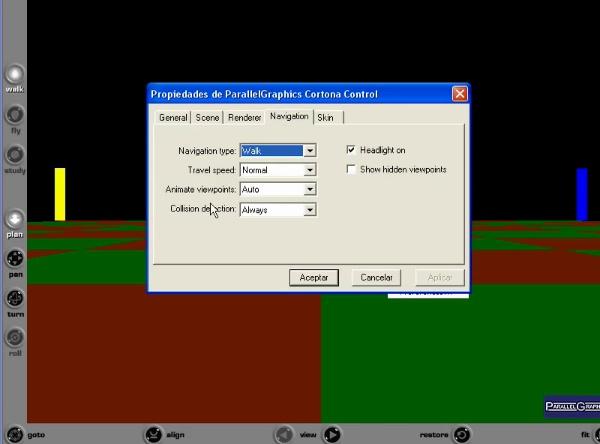 Controlar el punto de vista en VRML