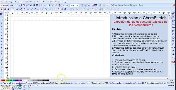 ChemSketch. Herramientas básicas y estructuras