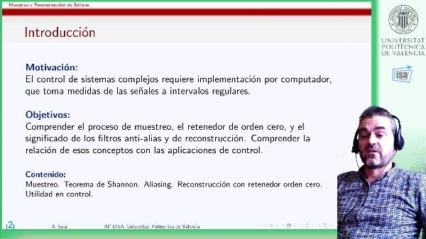 Muestreo y Reconstrucción de Señales (Shannon/Nyquist). Comentarios sobre aplicación a control.