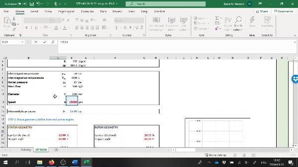 SET 2b.- Velocity diagrams solution (Excel)