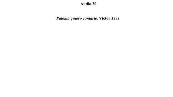 [81] Audio 20 - Paloma quiero contarte