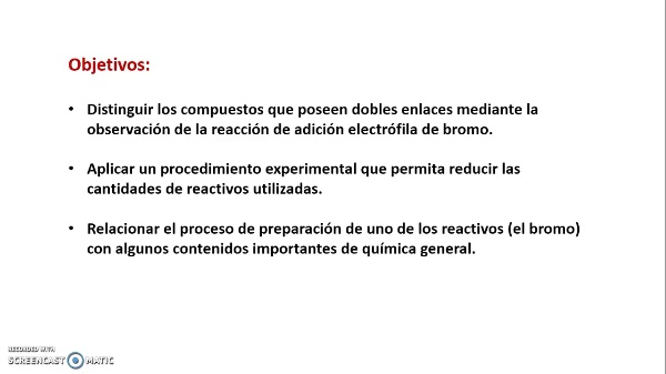 Adición electrófila de halógenos al doble enlace. Propuesta experimental