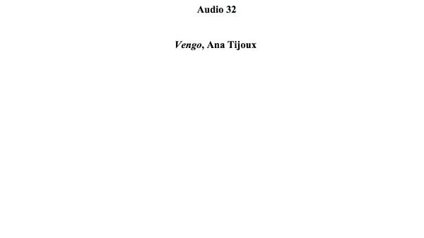 [133] Audio 31 - Vengo