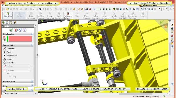 Simulación Cinemática Modelo Lego Technic 8862-1 -Cargador- 14 de 19