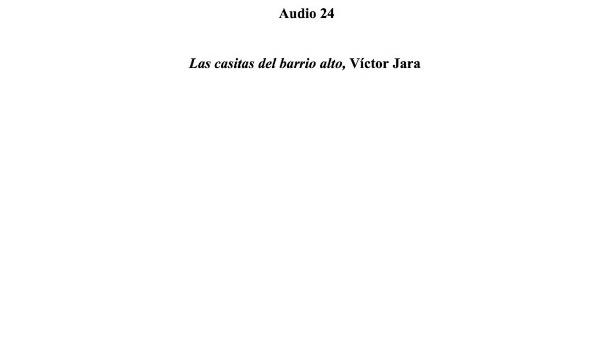 [84] Audio 23 - Las casitas del barrio alto