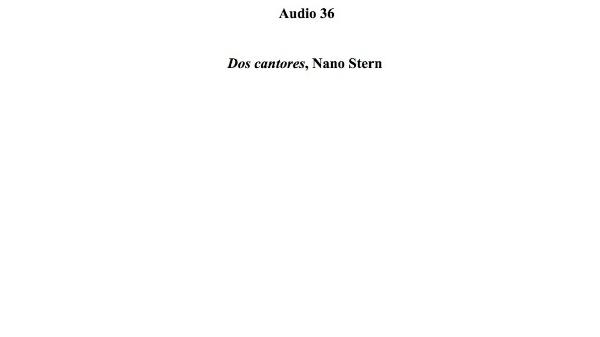 [139] Audio 35 - Dos cantores