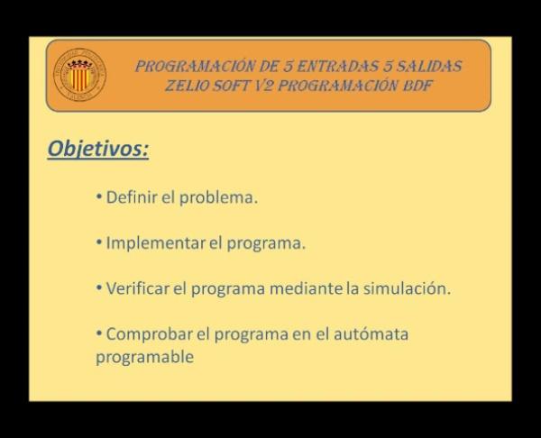 Programación de 5 entradas 5 Salidas en BDF