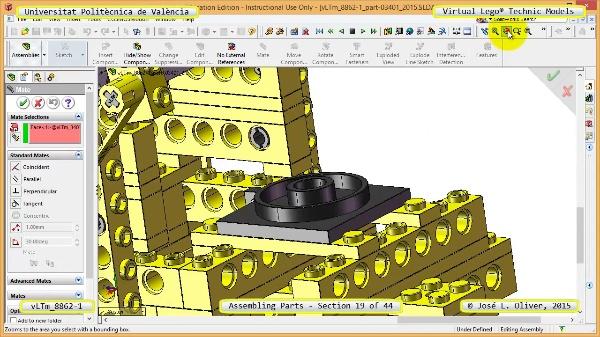 Creación Virtual Modelo Lego Technic 8862-1 ¿ Montaje Modelo ¿ 19 de 44