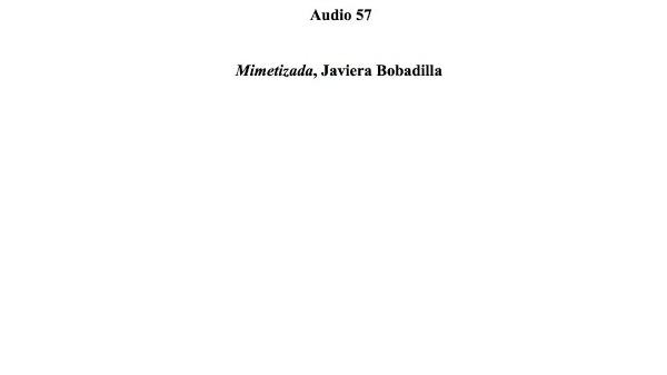 [189] Audio 56 - Mimetizada