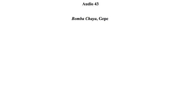 [150] Audio 42 - Bomba Chaya