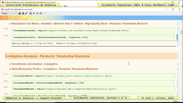 Mallado Adaptativo Pieza Mecánica con Solidworks Simulation v17 - 5 de 6
