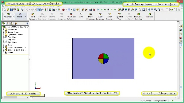 Simulación Mecanismo a-z-1133 con Mechanica - 08 de 29