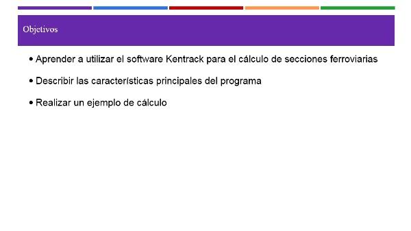 Programa de claculo de plataformas ferroviarias (Kentrack)