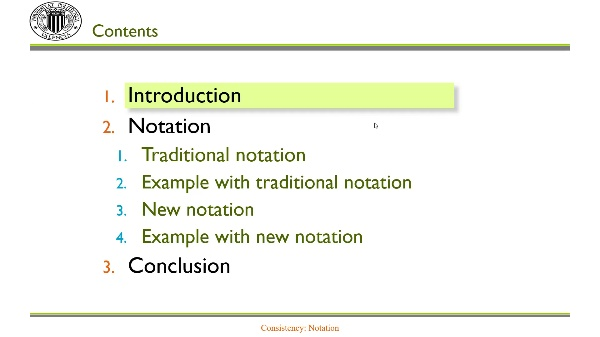Consistency: Notation