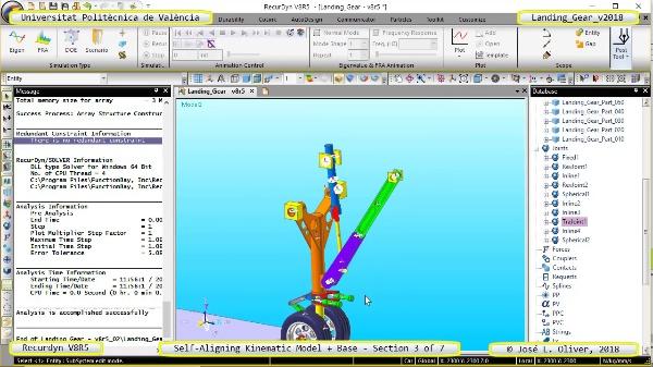 Simulación Dinámica de Tren de Aterrizaje con Recurdyn V8R5 - 3 de 7