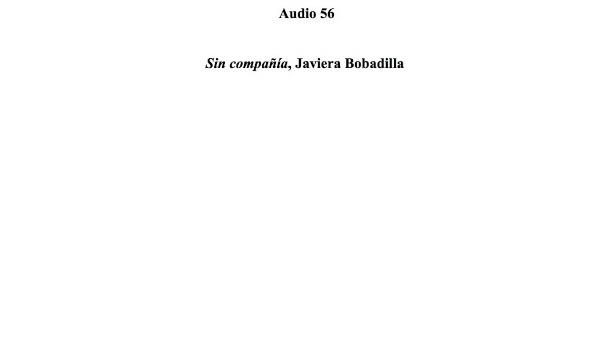 [188] Audio 55 - Sin compañía