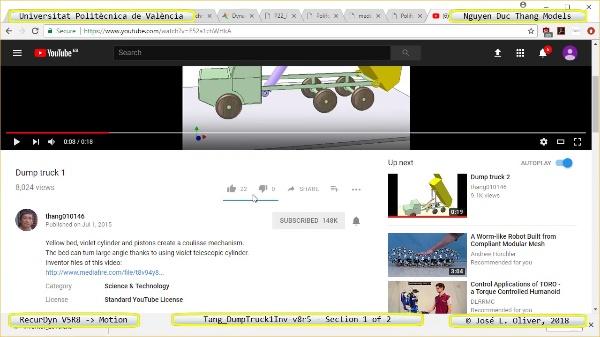 Simulación Cinemática Tang_DumpTruck1Inv-v8r5 con Recurdyn - AdP-t - 1 de 2