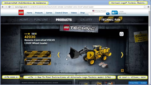 vLTm issues how-to-find-instructions-of-alternate-lego-technic-model-LTM no-audio