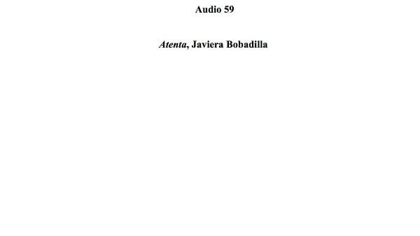 [191] Audio 58 - Atenta