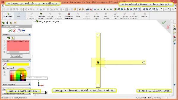 Creación Virtual y Simulación Mecanismo a-z-1093 con Cosmos Motion - 07 de 11