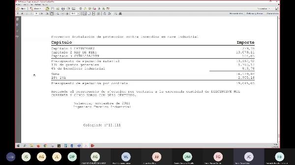 Sesión práctica con el programa Arquímedes (Ing. Mecánica)