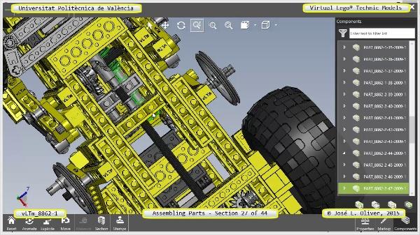 Creación Virtual Modelo Lego Technic 8862-1 ¿ Montaje Modelo ¿ 27 de 44