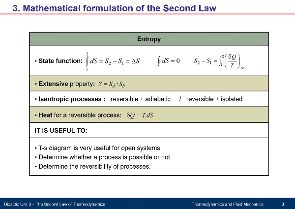 Didactic Unit 3. The Second Law of Thermodynamics - Part B