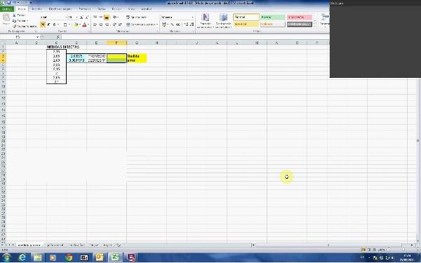 Tratamiento de datos experimentales: Ejemplo II. Ajuste por mínimos cuadrados C
