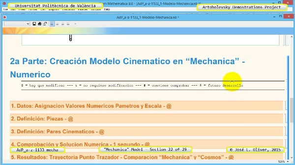 Simulación Mecanismo a-z-1133 con Mechanica - 22 de 29