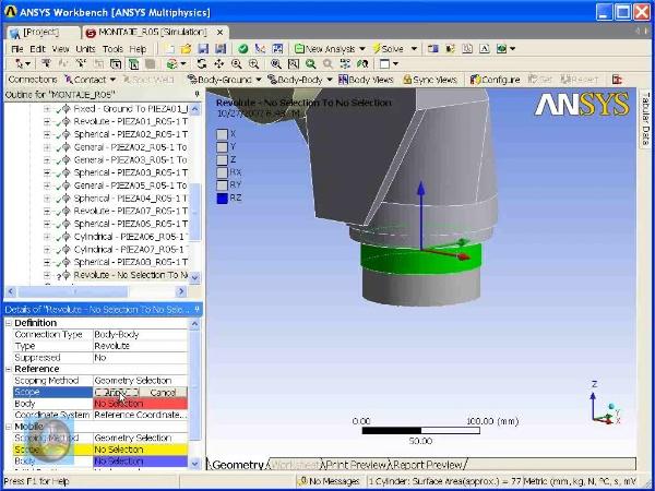 Montaje de un robot ABB con Ansys Workbench. Tramo 06 DE 07