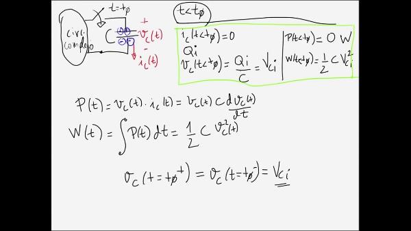 Teoría de Circuitos 1. Lección 4. 2-3 Gráficas corriente, tensión, Potencia y Energía en un condensador