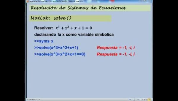 MN-SE-09 Sistemas Ecuaciones Mat Lab