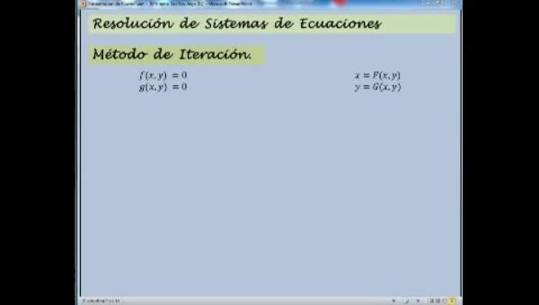 MN-SE-03 Iteración, Sistemas Ecuaciones No Lineales.