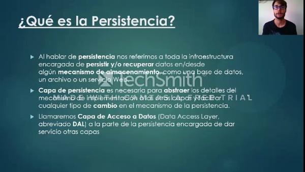 Capa de persistencia ISW