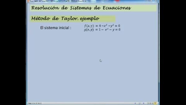 MN-SE-04 Taylor, Sistemas Ecuaciones No Lineales.
