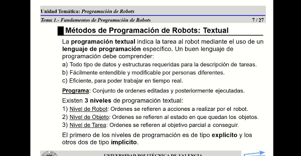 12626 Robotica (GIM) Tema 5 (Parte 2)