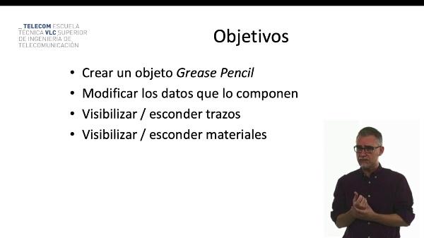 Blender: Datos y propiedades del Grease Pencil